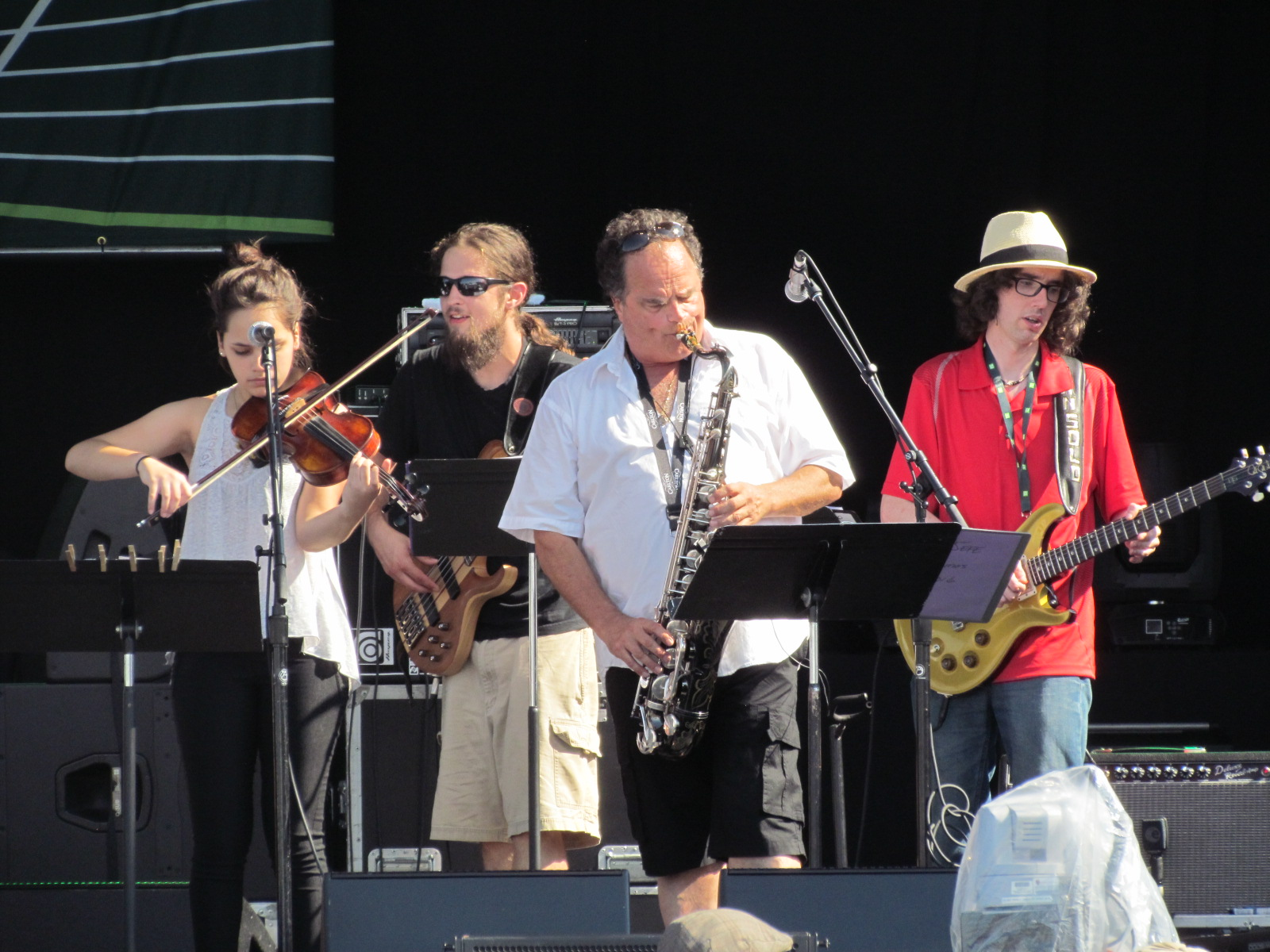 Eclectics at on the Jazz Festival Stage