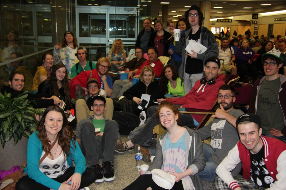 Music Arts students at the Airport
